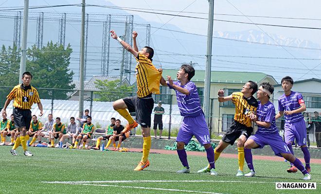 平成28年度 長野県高等学校総合体育大会サッカー競技大会2回戦 松商学園総合グラウンド会場《試合結果》