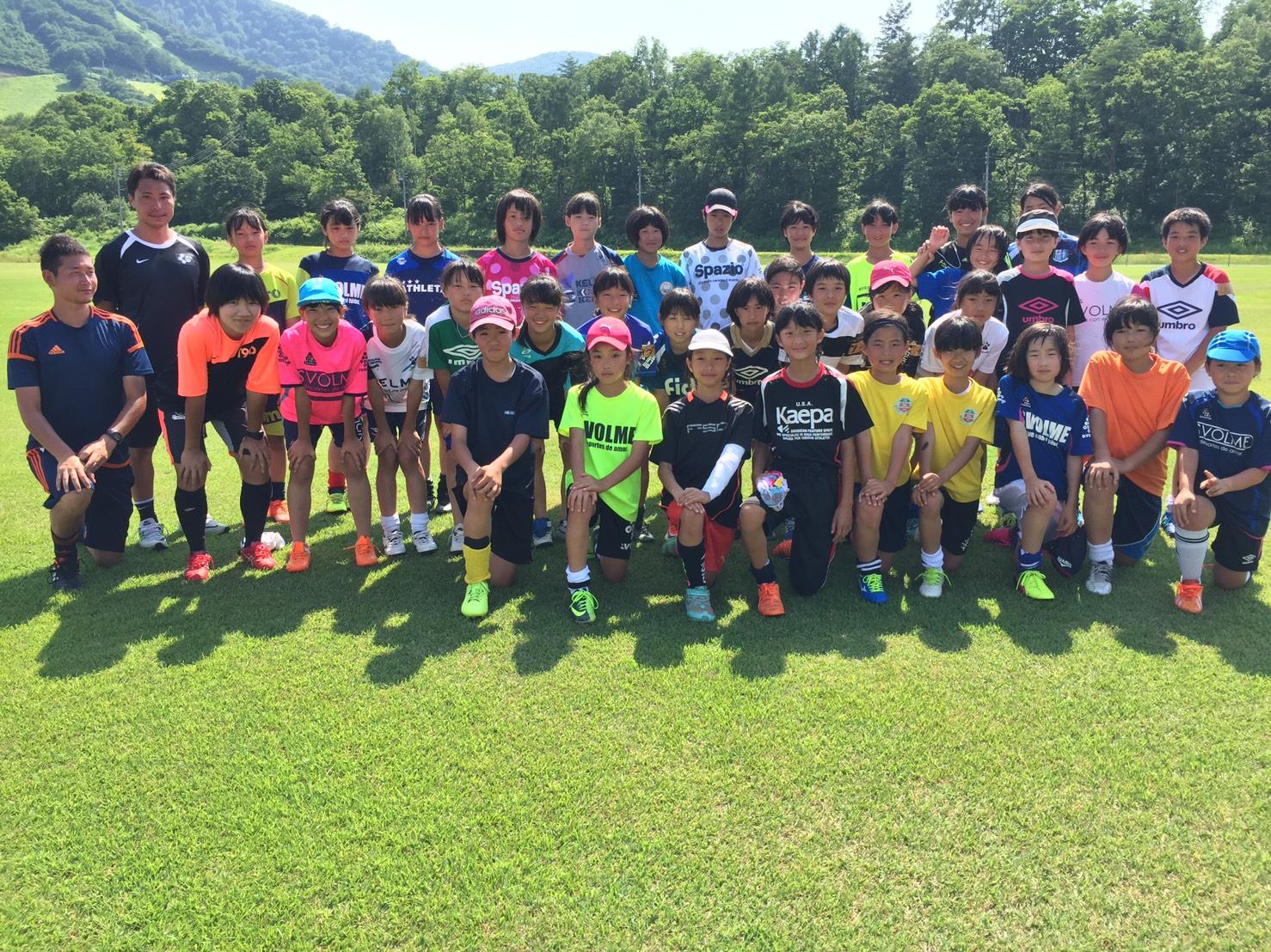 長野県U-12女子トレセン 木島平トレーニングキャンプ 開催報告